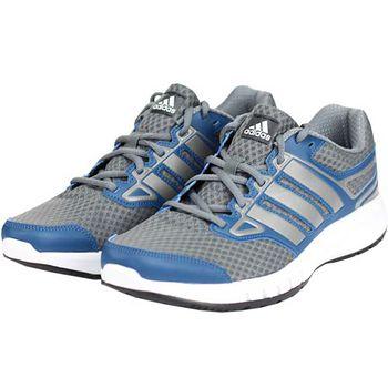 adidas 吸震輕量慢跑鞋男款-灰藍(UK8~10.5)