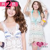 【天使霓裳】夏季百搭 長板針織不規則背心外搭罩衫(共2色)