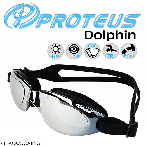 PROTEUS Dolphinsogo 台南 專業鍍銀運動泳鏡(Black Coating)