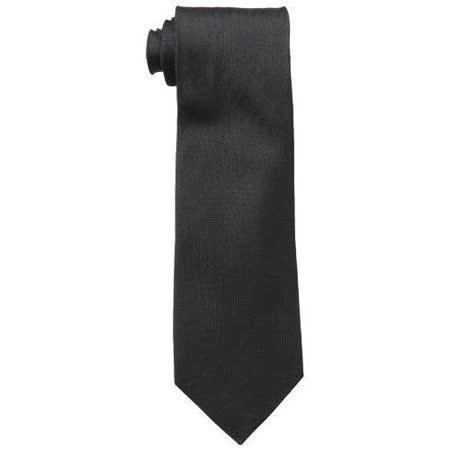 【Calvin Klein】2015男時尚Silver Spun黑色真絲領帶【預購】