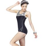 【SARBIS】MIT大女連身四角泳裝附泳帽B95225