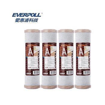 EVERPOLL 愛惠浦科技 CTO 壓縮碳濾心 EVB-C100A (4入)
