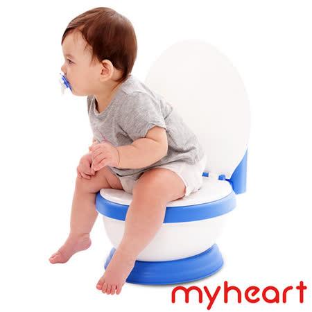 【myheart】台灣製造 專利音樂兒童馬桶-晴空藍
