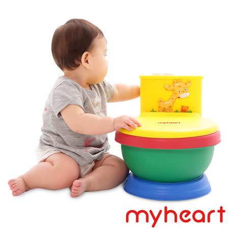 【myheart】台灣製造 專利音樂兒童馬桶-繽紛彩