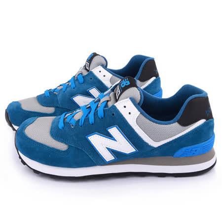 New Balance 男款 麂皮復古運動鞋ML574CPD-藍