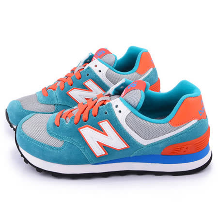 New Balance 女款 復古輕量運動鞋WL574CPE-藍灰