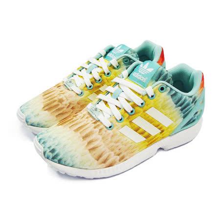 (女)ADIDAS ZX FLUX W 休閒鞋 粉紅/淺藍/鵝黃-B25485