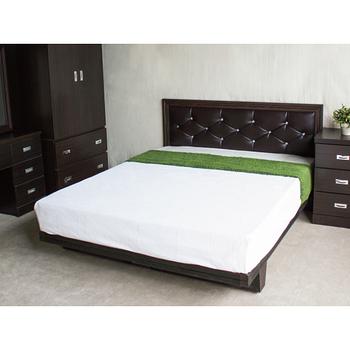 【YUDA】 5尺黛曼特 水鑽石雙人床組 (床頭板/床頭片+木屐床底+床頭櫃)3件組 床架組/床底組/床組