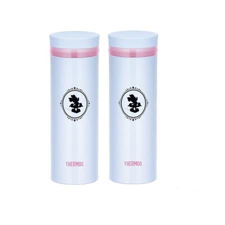 THERMOS膳魔師 不鏽鋼真空保溫杯350ml 2入組(JNO-350DS-LB)