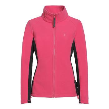 【hilltop山頂鳥】女款WINDSTOPPER抗風刷毛外套H22FQ3-木莓/黑