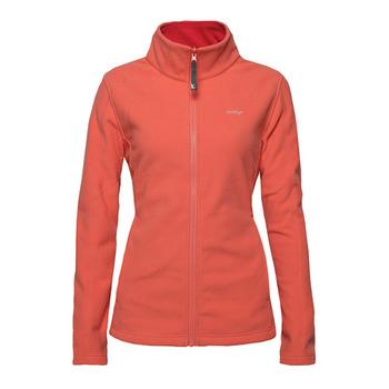 【hilltop山頂鳥】女款WINDSTOPPER抗風刷毛外套H22FQ5-亮橘