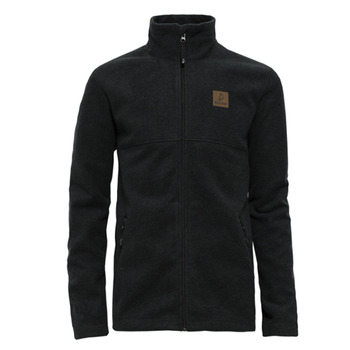 【hilltop山頂鳥】男款防風刷毛外套H22MS3-黑