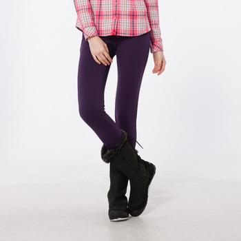【hilltop山頂鳥】女款吸濕快乾合身版長褲H31FI5-深紫