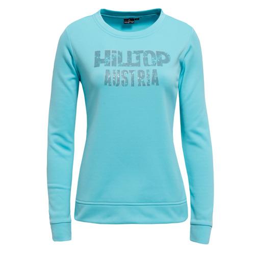 【hilltop山頂鳥】女款圓領刷毛保暖上衣H51FE1-水藍