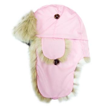 【hilltop山頂鳥】極地保暖遮耳帽H41XL8-粉紅