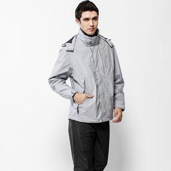 【hilltop山頂鳥】男款GoreTex 抗UV單件式防水外套H22MQ6-淺灰