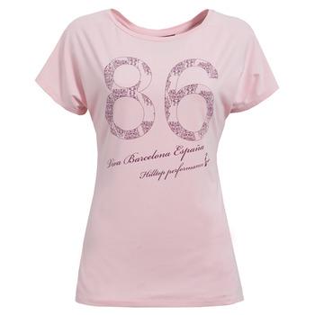 【hilltop山頂鳥】女款COOLMAX吸濕排汗短袖T恤S04FC7-粉