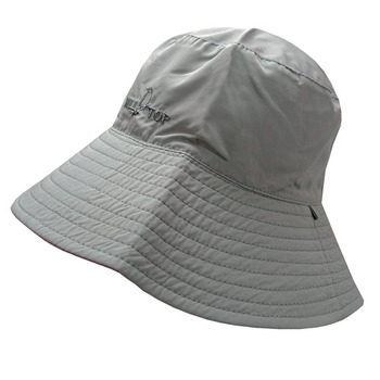 【hilltop山頂鳥】抗UV雙面漁夫帽S01X24-淺灰/桃紅