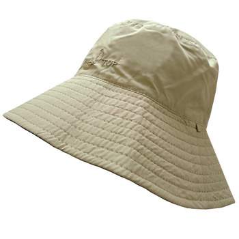【hilltop山頂鳥】抗UV雙面漁夫帽S01X24-卡其/深藍