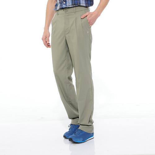 【hilltop山頂鳥】男款抗UV吸濕快乾彈性長褲S07M92-灰卡其