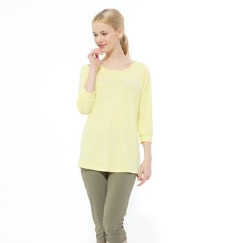 【hilltop山頂鳥】女款吸濕快乾COOLINGT恤S04FE2-象牙黃
