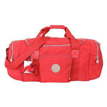 Kipling 手提/斜背旅行袋(紅/毛絨猩猩吊飾) _301024-85