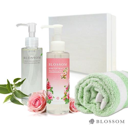 【BLOSSOM】植萃淨白保濕煥采深層潔顏油禮盒組