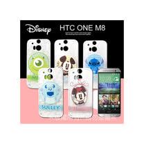 迪士尼授權正版 HTC One M8 徽章系列透明彩繪軟式保護殼 手機殼