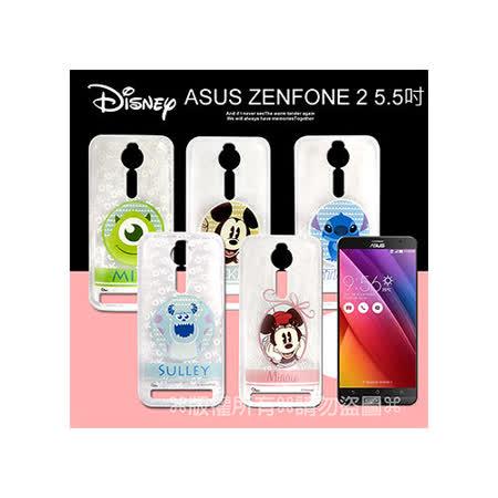 迪士尼授權正版 ASUS ZenFone 2 ZE550ML/ZE551ML 5.5吋徽章系列透明彩繪軟式手機殼
