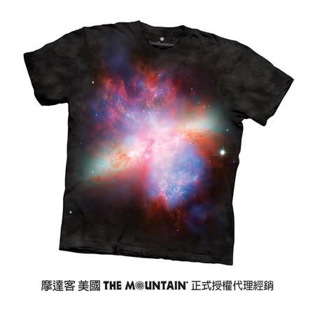 【摩達客】(預購) 美國進口The Mountain Smithsonian系列 星爆星系M82 純棉環保短袖T恤