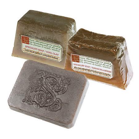 《菠丹妮》死海泥手工皂80g&廣藿香海鹽泥手工皂125g&乳香沒藥手工皂125g
