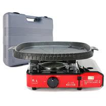 歐王OUWANG-卡式休閒爐JL-168(附PE外盒) + 韓國最新火烤兩用花形紋烤盤NU-B