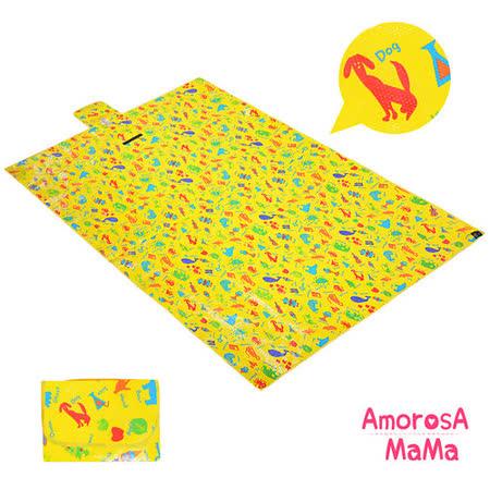 【Amorosa Mama】折疊手提式戶外野餐墊/遊戲墊/地墊(英文單字)