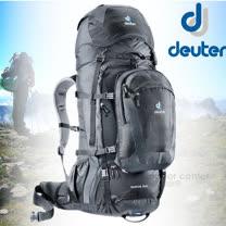【德國 Deuter】Quantum 70+10L 自助旅行背包.登山背包.露營背包.自行車背包.休閒背包_黑/灰 3510415