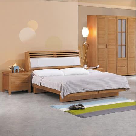 HAPPYHOME 日式松沐6尺加大雙人床628-3+628-4不含床頭櫃-床墊