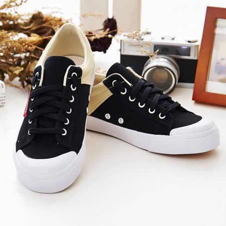 中國強 MIT運動休閒帆布鞋CH103(黑/米) 女鞋