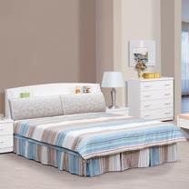 HAPPYHOME 亞泰5尺雙人床652-1+652-2可選色不含床頭櫃-床墊
