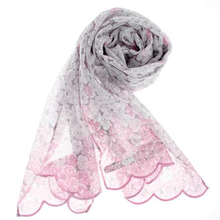 【好物推薦】gohappy快樂購物網YSL 法式碎花漸層薄棉抗UV圍巾-粉紅色價格遠 百 超市