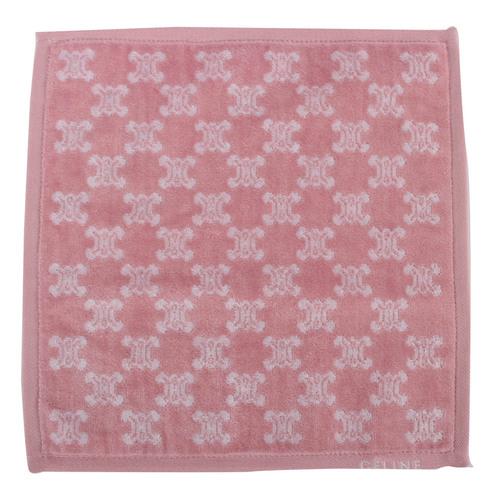 CELINE 經典BLASON LOGO滿版圖徽方巾-粉紅色