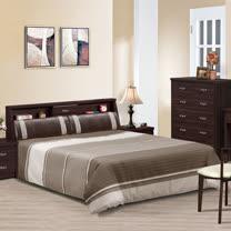 HAPPYHOME 千億胡桃6尺加大雙人床670-3+670-4不含床頭櫃-床墊