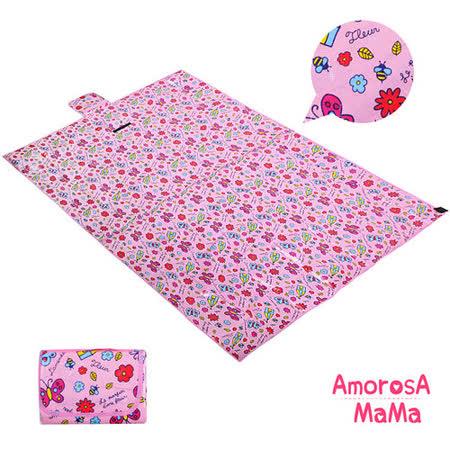 【Amorosa Mama】折疊手提式戶外野餐墊/遊戲墊/地墊(蝴蝶)
