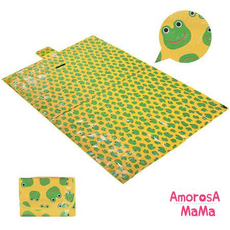 【Amorosa Mama】折疊手提式戶外野餐墊/遊戲墊/地墊(青蛙)