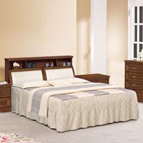 HAPPYHOME 楓芝林樟木5尺實木雙人床688-1+688-2不含床頭櫃-床墊