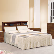 HAPPYHOME 楓芝林樟木6尺實木加大雙人床688-3+688-4不含床頭櫃-床墊