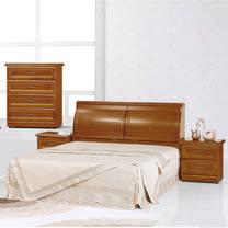 HAPPYHOME 施勝發正樟木5尺雙人床689-1+689-2不含床頭櫃-床墊