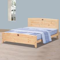 HAPPYHOME 北歐松木5尺雙人床架698-5不含床頭櫃-床墊