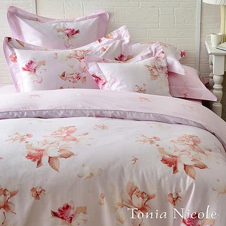 (好康)東妮寢飾紫語情迷100%精梳棉兩用被床包組(雙人)