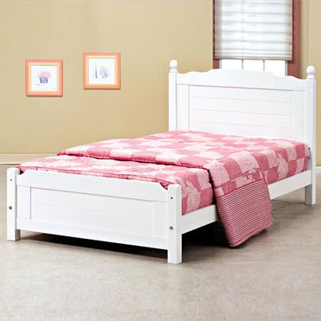 HAPPYHOME 歐風3.5尺加大單人床架700-1可選色不含床頭櫃-床墊