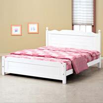 HAPPYHOME 歐風5尺雙人床架700-2可選色不含床頭櫃-床墊