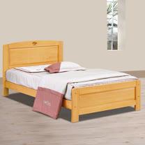 HAPPYHOME 歌莉雅檜木3.5尺加大單人床架701-1不含床頭櫃-床墊